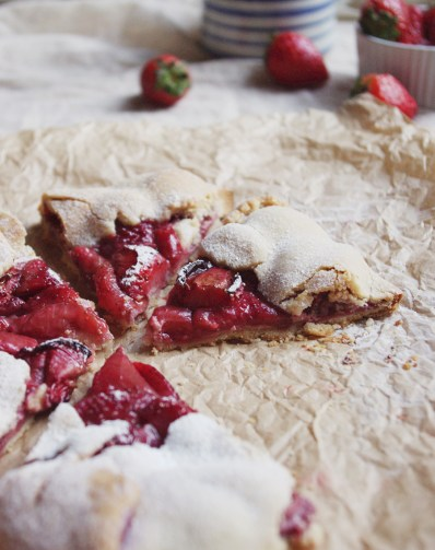 Balsamic strawberry galette with ricotta // The Dinner Bell