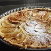 rum & pecan apple tart