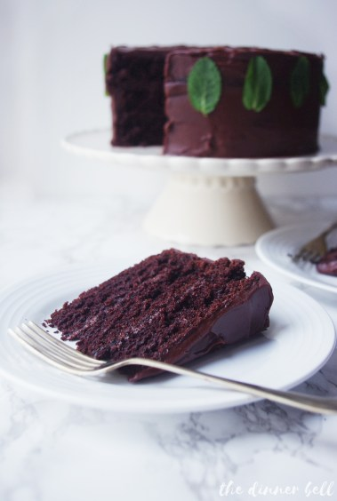 After Eight chocolate mint cake // The Dinner Bell