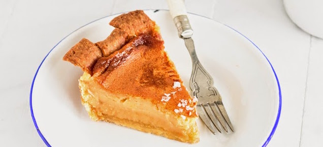 Salty honey rosewater crust pie by Emine Hassan