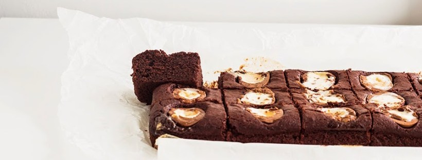 Beetroot Crème Egg brownies by Emine Hassan