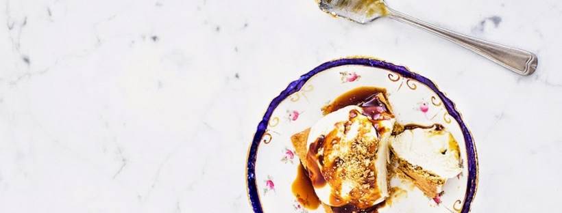 No Churn Tahini Ice Cream with Mulberry Molasses by Emine Hassan