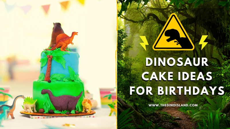 Got A Dino Birthday Coming Up Bake An Easy Cake With These Dinosaur Cake Pans And Cake Toppers The Dino Island