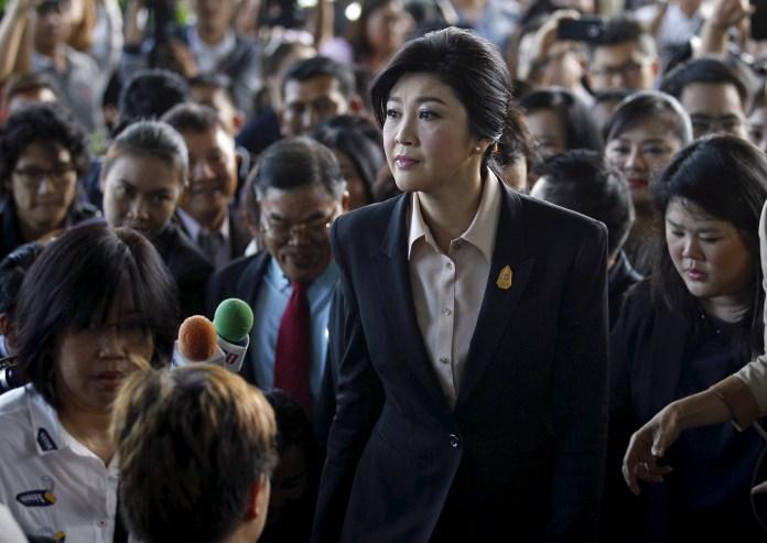 Yingluck Shinawatra, Primera Ministra entre 2011-2014, llega a la Corte Suprema de Bangkok, Tailandia, el 19 de mayo de 2015   Fuente: Chaiwat Subprasom / Reuters