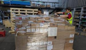 Package of Humanitarian aid ready to leave to Cuba