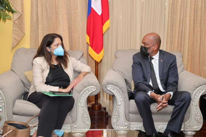 The US Under-Secretary and the Prime Minister of Haiti