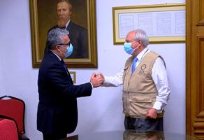 Vice-Minister Scappini and Juan Pablo Corlazzoli