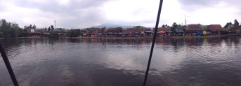 View of the floating market from our boat.