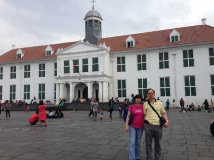 Jakarta History musuem in the backdrop.