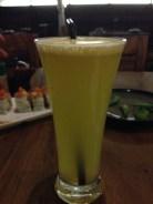 Freshly squeezed orange juice.