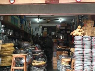 Super old school shop selling kitchen ware.