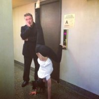(PHOTOS) Morning Wood: Just Alec Baldwin's Wife Doing Yoga Poses In Weird Places
