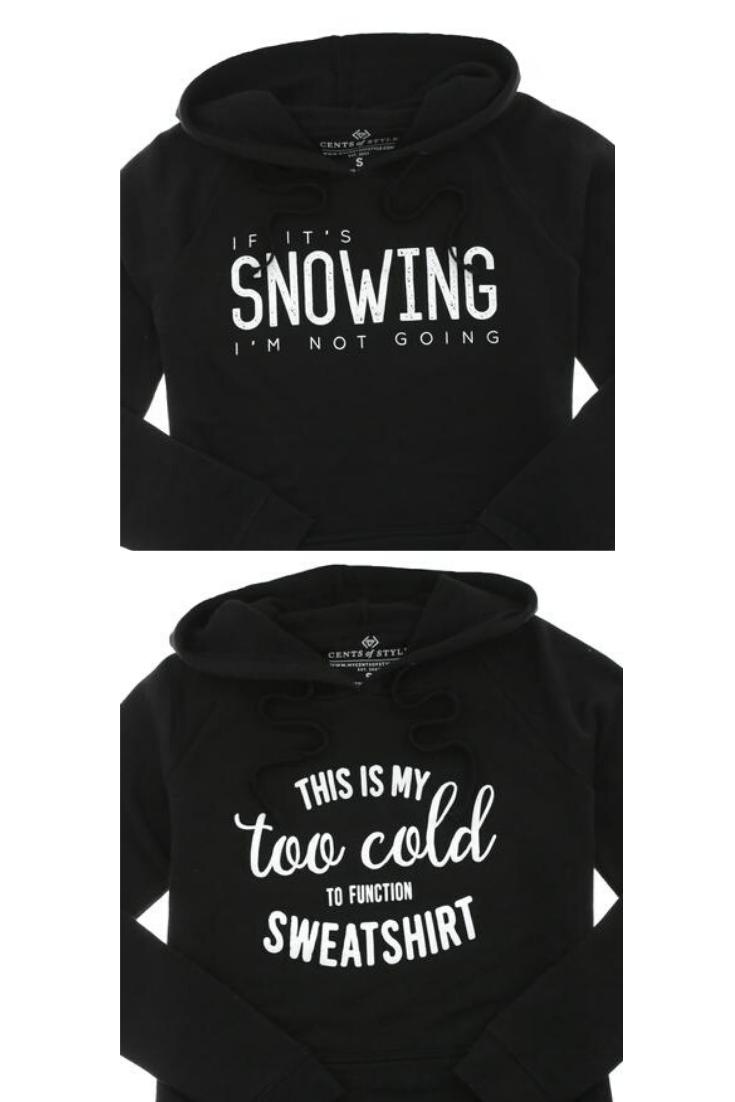humorous winter sweatshirts