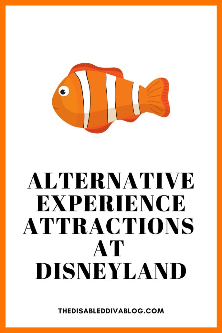Three alternative experience attractions at Disneyland