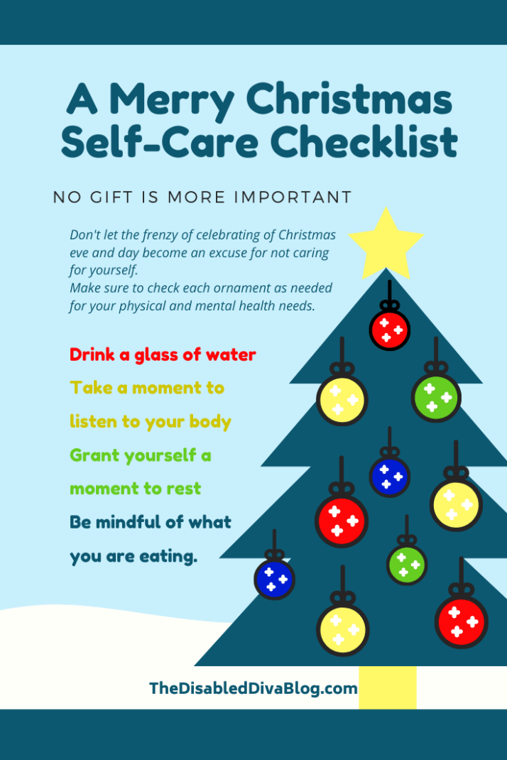 Merry Christmas Eve and Day self care checklist