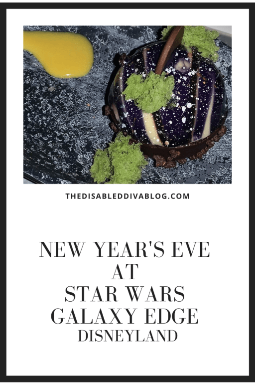 New Year's eve dessert at Star Wars Galaxy Edge Disneyland