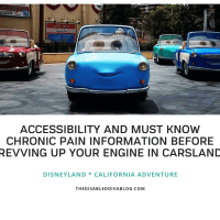 Accessibility and Must Know Chronic Pain Information Before Revving up Your Engine in Carsland * California Adventure * Disneyland