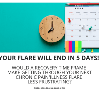 Your Flare Will End In 5 Days! Would a Recovery Time Frame Make Getting Through Your Next Chronic Pain/Illness Flare Less Frustrating?