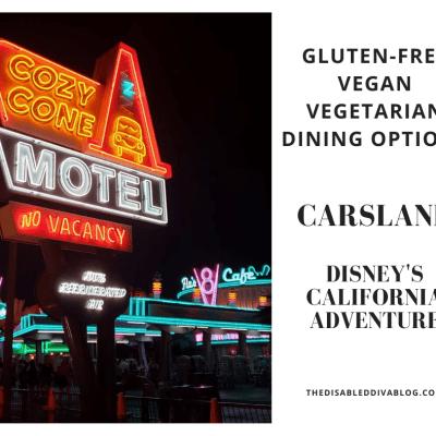 gluten-free vegan vegetarian carsland california adventure disneyland