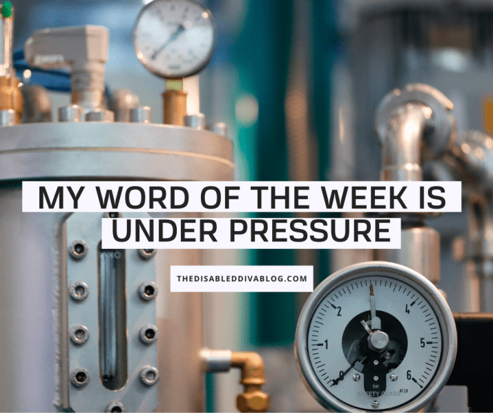 My word of the week is brought to you by Queen and David Bowie Under Pressure