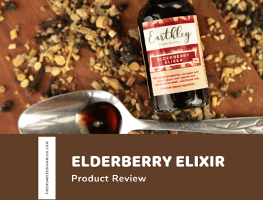 In this herbal remedy review, I am sharing my experience with Earthley's Elderberry Elixir and why I can't live without it!