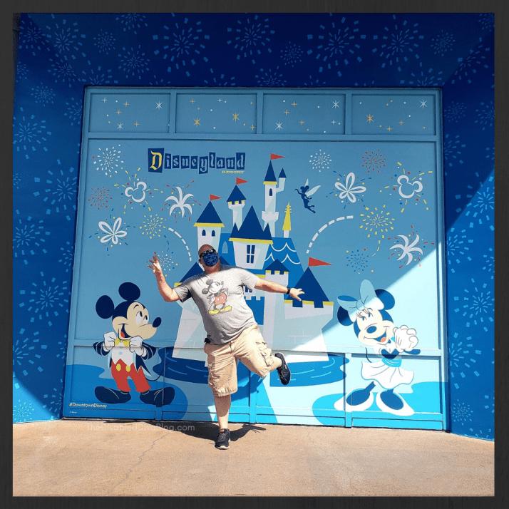 Downtown Disney Disneyland Anniversary photo op