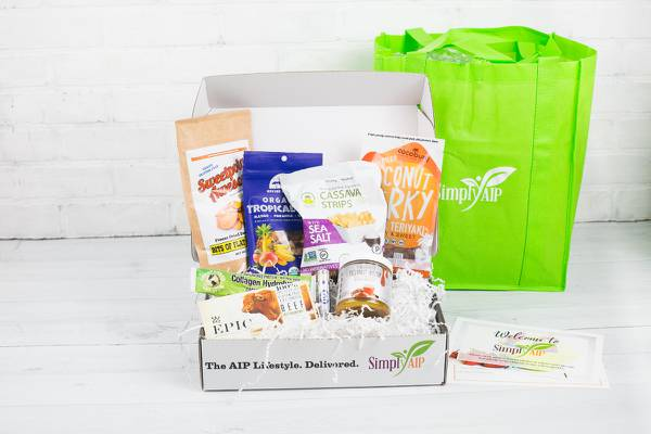 Autoimmune Paleo monthly subscription box with AIP-friendly treats and self-care indulgences