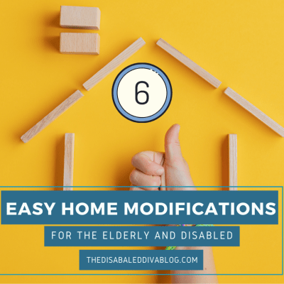 The Disabled Diva shares six easy home modifications for the elderly and disabled to stay safe at home. Perfect for homeowners and renters, as each assistive device can be easily removed when needed without damage to the home.