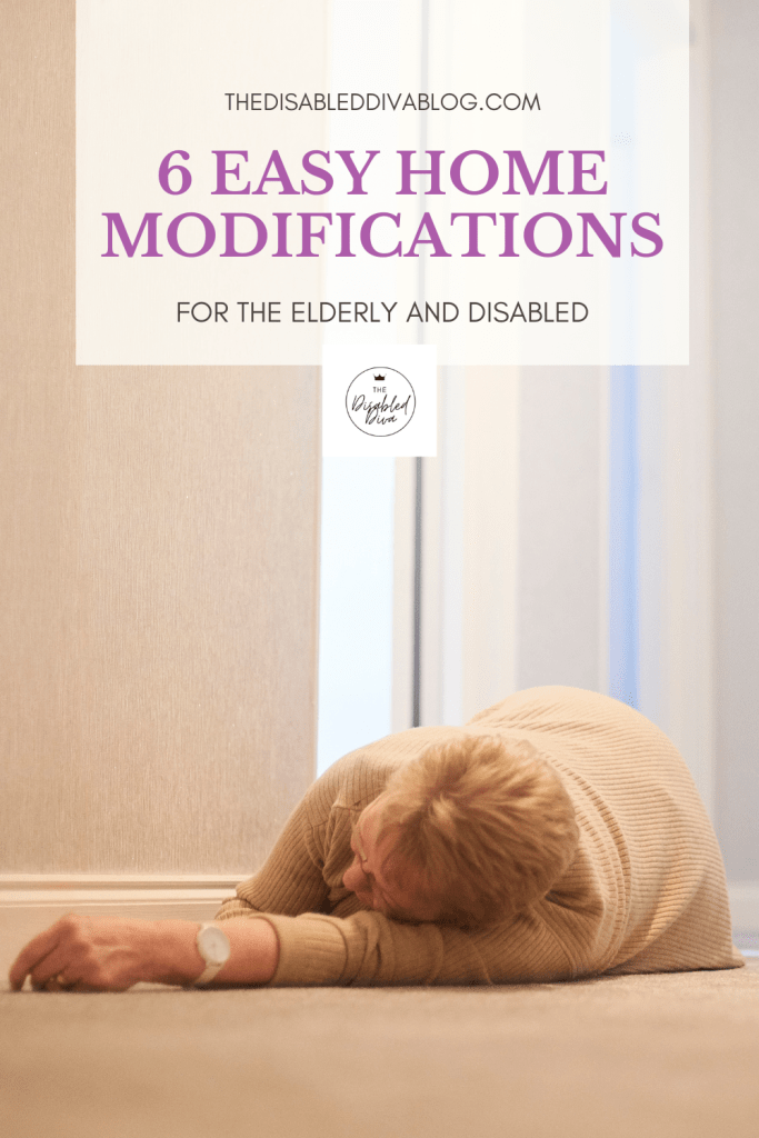 Did you know that one in four adults over the age of 65 reports falling each year? Or that falls are the leading cause of fatal and non-fatal injuries among seniors? The Disabled Diva shares 6 easy home modifications to help prevent falls and injuries from them.