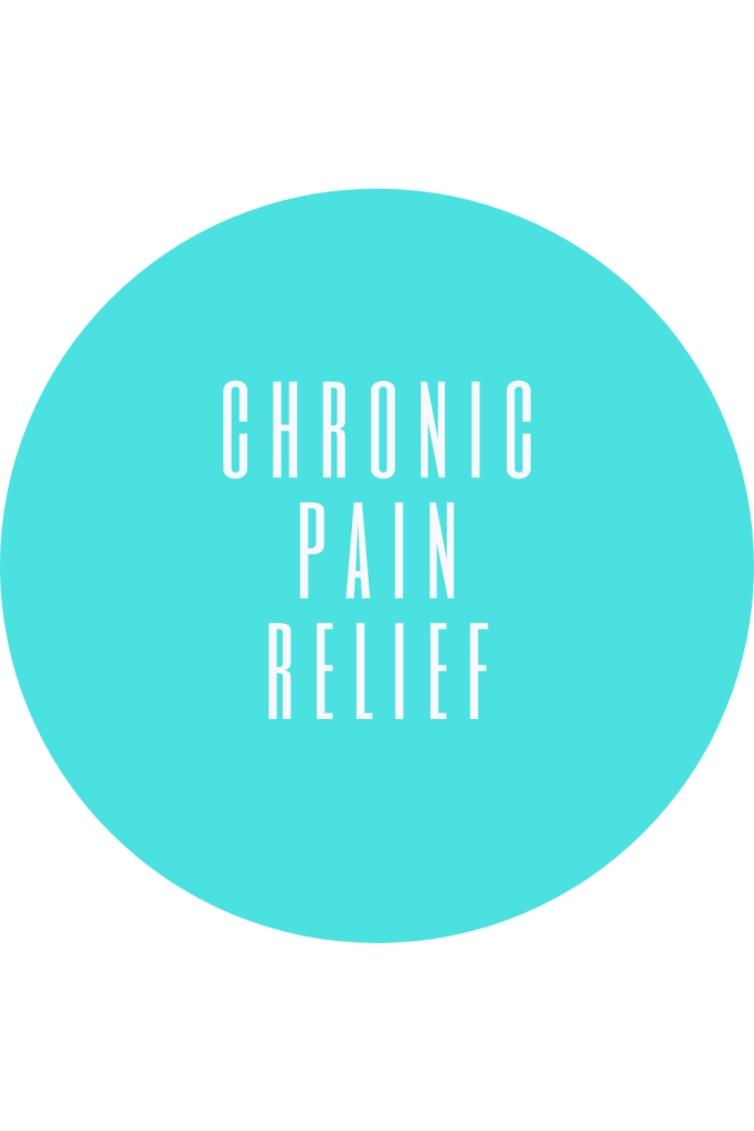Chronic pain relief products and resources