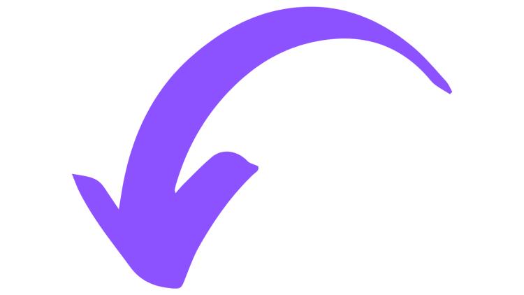 Purple Arrow Pointing Down