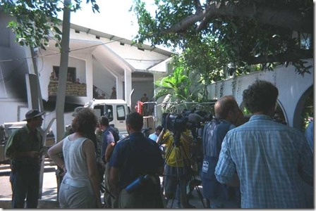 The daily United Nations news media briefing in Dili East Timor