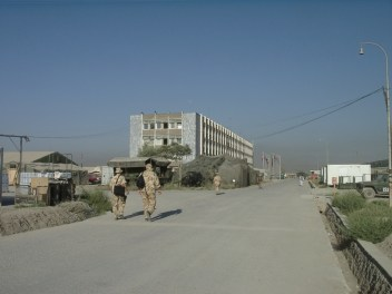 Camp Warehouse. HQ for the main battalion fighting force for ISAF in Kabul. 2003