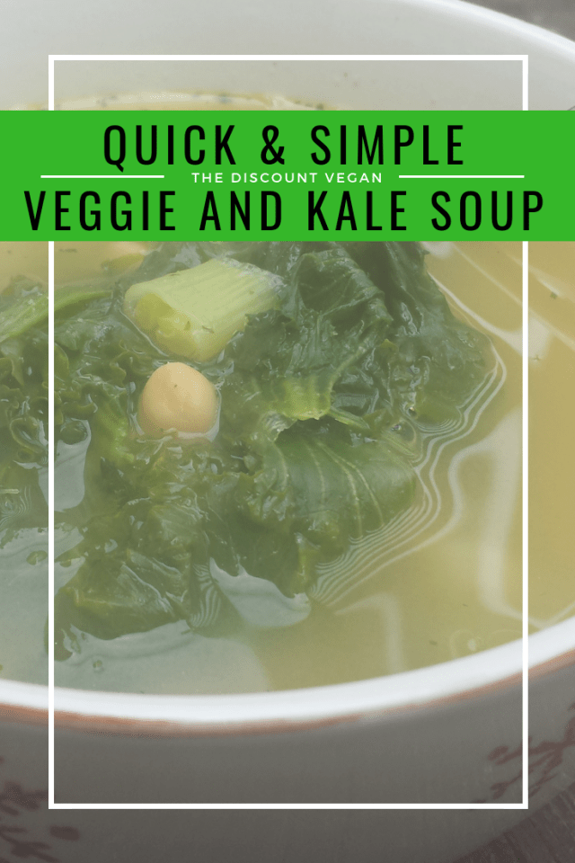 Soup Recipe - vegan - Simple vegan soup recipe - healthy soup recipe - The Discount Vegan