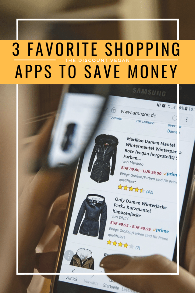 save money shopping online - shop and save - money saving apps - The Discount Vegan