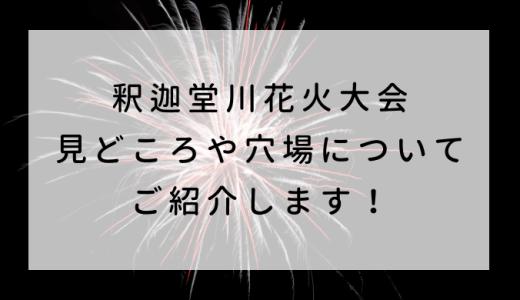 釈迦堂川花火大会2019 見どころや穴場についてご紹介します!
