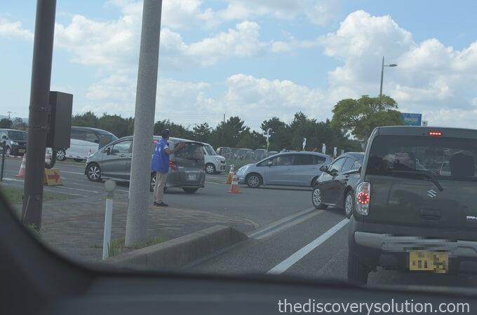 山口ゆめ花博の駐車場の混雑状況