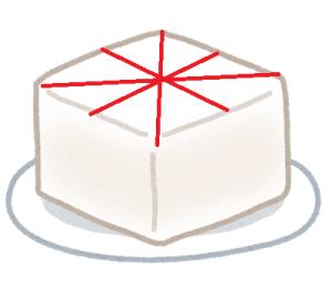 豆腐を三角に切る方法