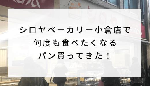 シロヤベーカリー小倉店で何度も食べたくなるパン買ってきた!