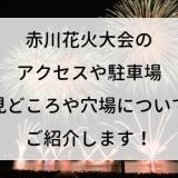 赤川花火大会2019のアクセスや駐車場、見どころや穴場についてご紹介します!
