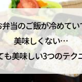 お弁当のご飯が冷めていて美味しくない…冷めても美味しい3つのテクニック♪