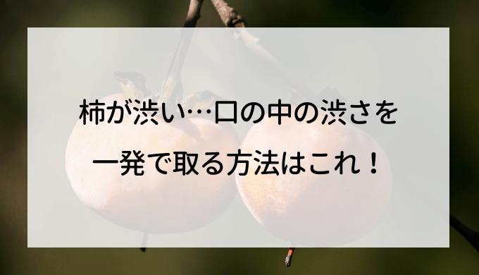 柿が渋い…口の中の渋さを一発で取る方法はこれ!