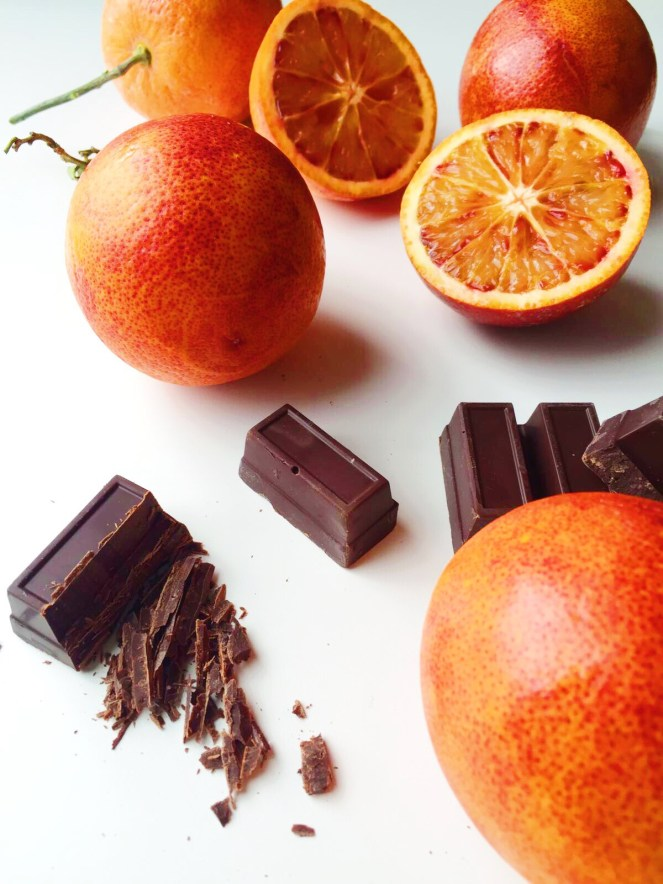 chocolate and blood oranges