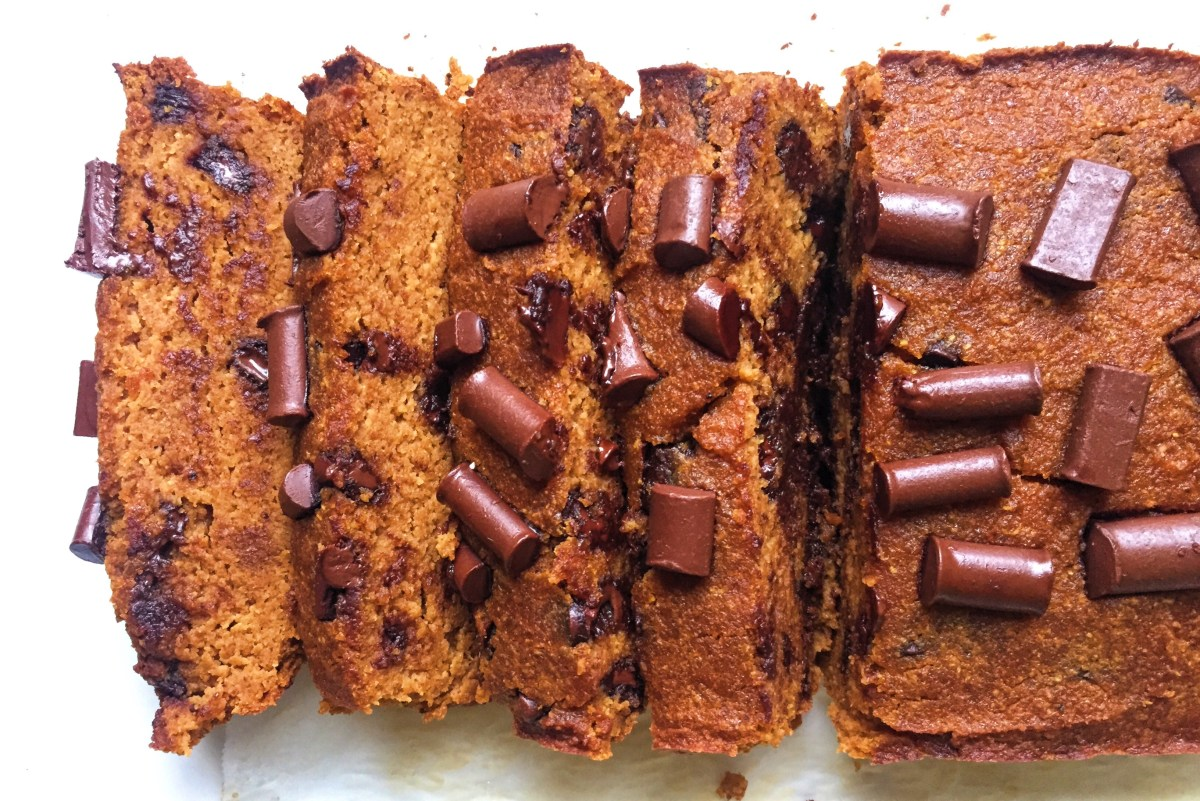 Paleo Chocolate Pumpkin Loaf