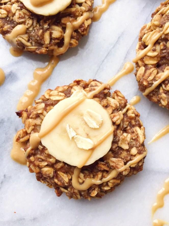 gluten free banana peanut butter oatmeal cookies