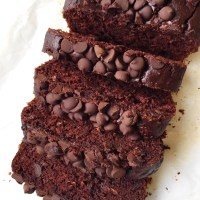 Healthy Double Chocolate Zucchini Bread