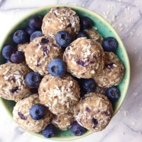 No-Bake Blueberry Bliss Balls