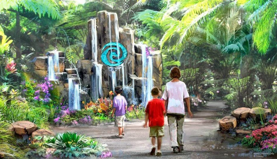 Concept art for the Moana attraction