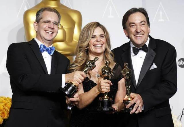 Frozen 2 directors Chris Buck and Jennifer Lee and producer Peter Del Vecho