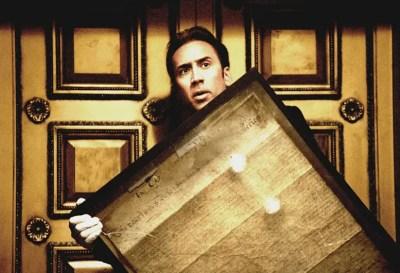 National Treasure Nicolas Cage with Declaration